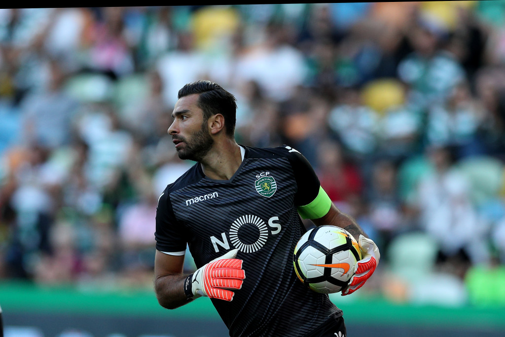 LISBON, PORTUGAL - JULY 22: Sporting CP goalkeeper Rui Patricio from Portugal during the Friendly match between Sporting CP and AS Monaco at Estadio Jose Alvalade on July 22, 2017 in Lisbon, Portugal. (Photo by Carlos Rodrigues/Getty Images)