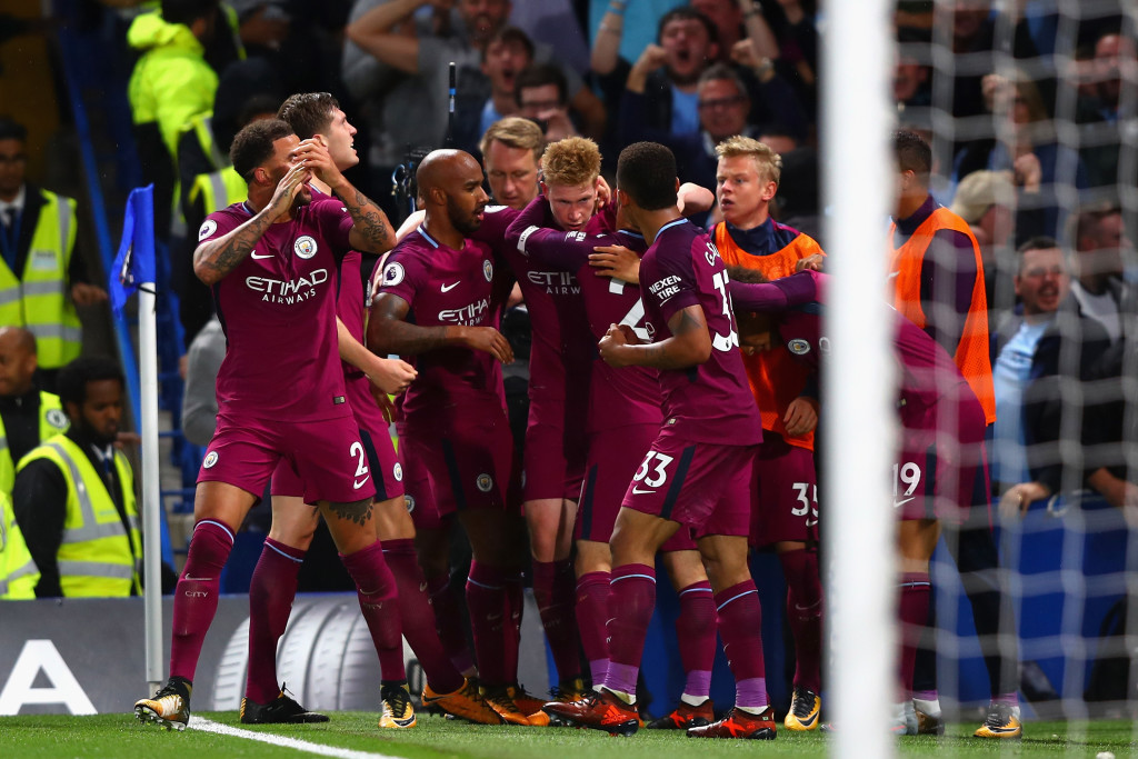 Kevin De Bruyne's stunning strike won it for Manchester City away at Chelsea.