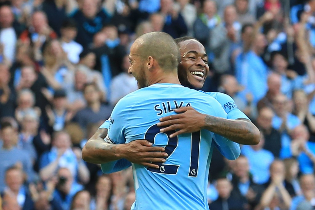 David Silva and Raheem Sterling found the net against Stoke City.