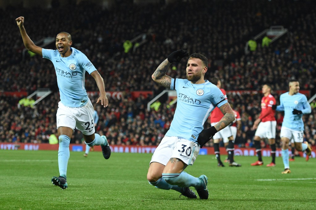 Nicolas Otamendi scored the winner as Manchester City won 2-1 at Old Trafford.