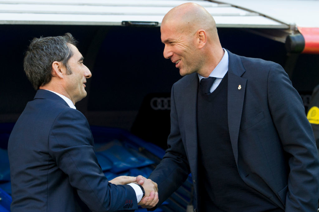 Ernesto Valverde and Zindine Zidane