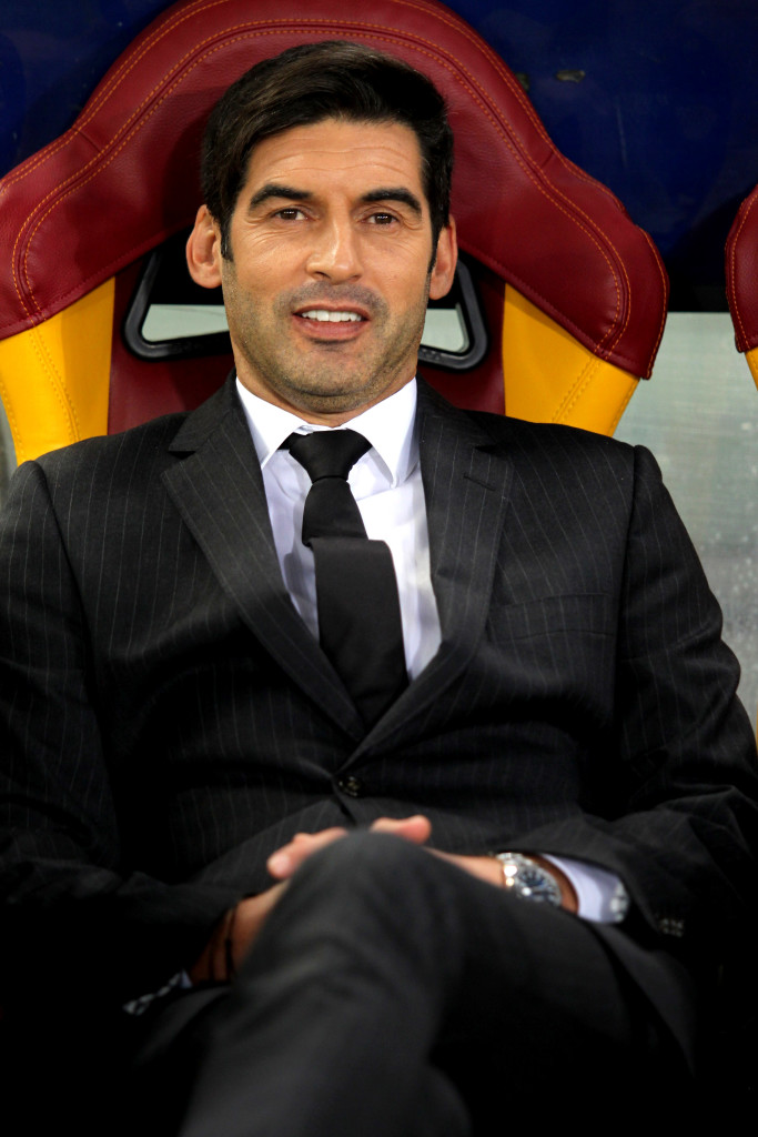 ROME, ITALY - MARCH 13: Shakhtar Donetsk head coach Paulo Fonseca looks on during the UEFA Champions League Round of 16 Second Leg match between AS Roma and Shakhtar Donetsk at Stadio Olimpico on March 13, 2018 in Rome, Italy. (Photo by Paolo Bruno/Getty Images)