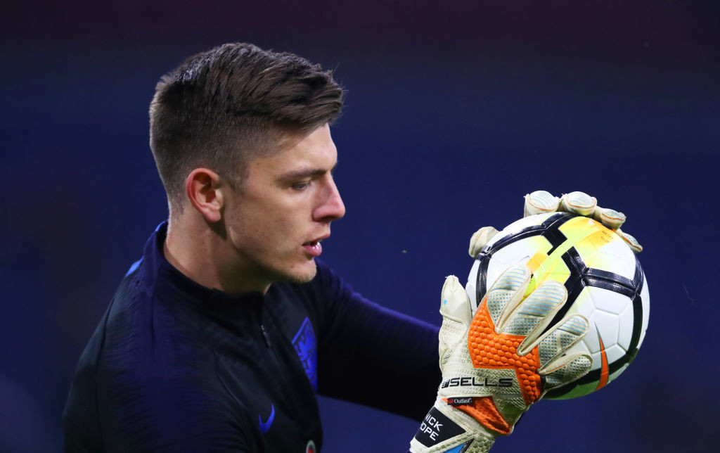 Hands on: Nick Pope can challenge Jordan Pickford.
