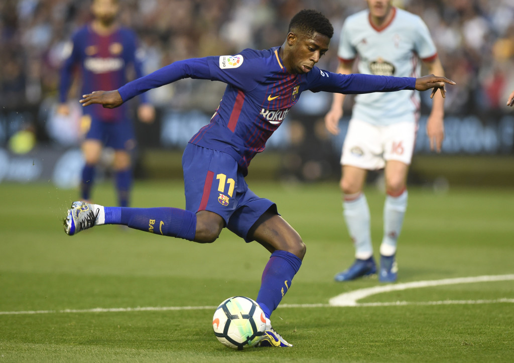 Dembele in action for Barca.