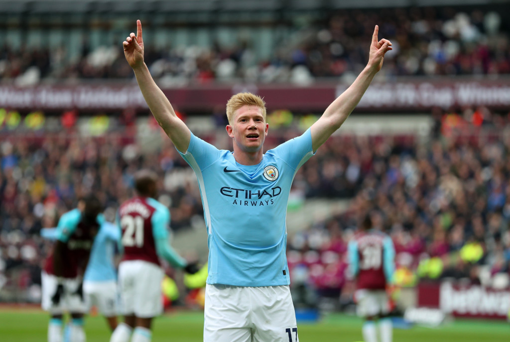 Kevin De Bruyne registered more assists than any other player in the Premier League.