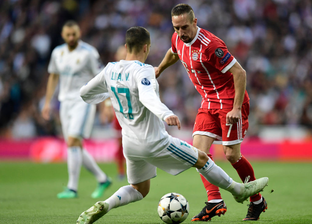 Franck Ribery had the beating of Lucas Vazquez.