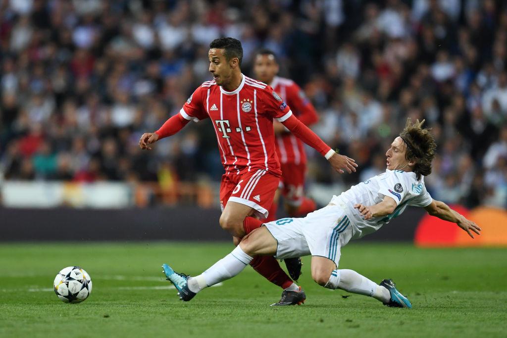 Thiago shone for Bayern.