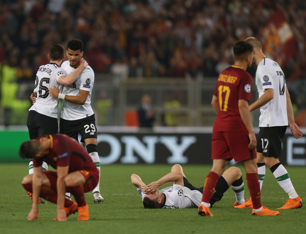 Liverpool just about held out against Roma.