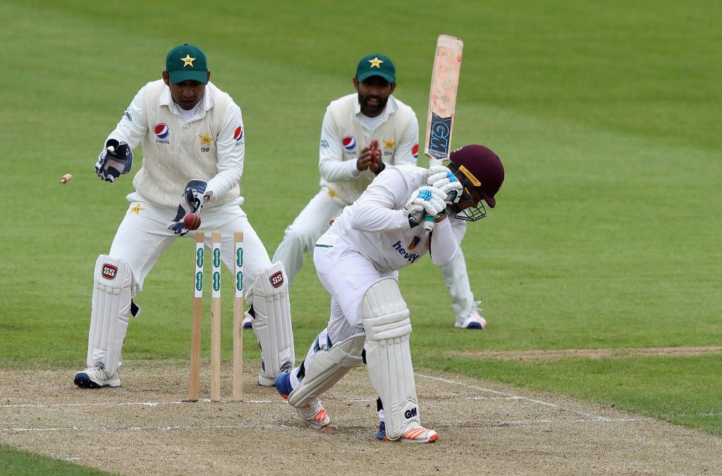 Northamptonshire's batsmen had no answer to Shadab's trickery.