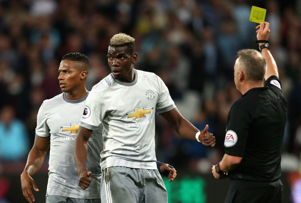 Pogba had another disappointing day in midfield.
