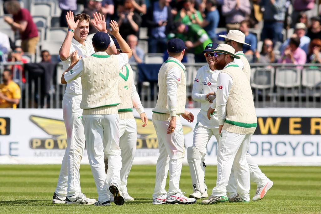 Rankin snatched Ireland's first-ever Test dismissal.