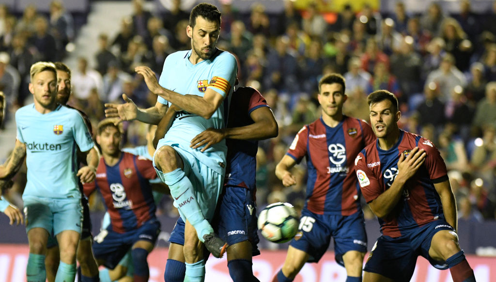Barcelona midfielder Busquets: No positives from Levante defeat