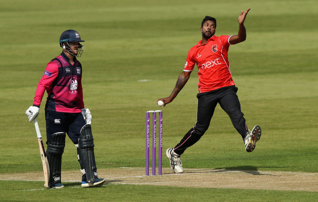 Aaron was impressive in his side's clash with Glamorgan.