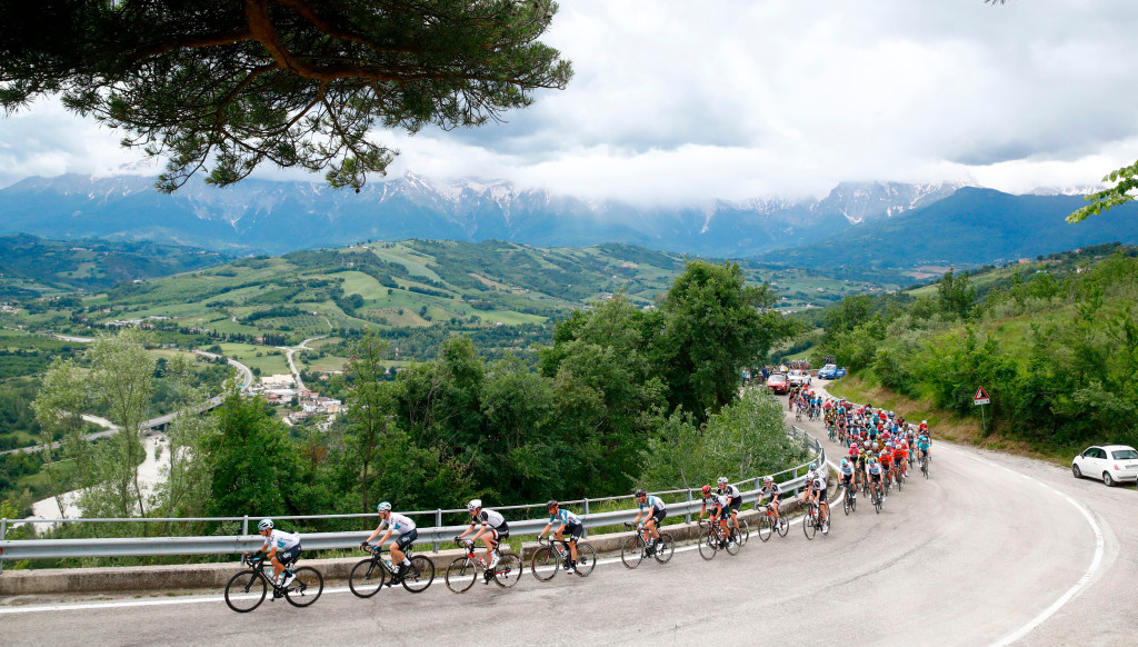 Action from Stage 10 of the Giro.