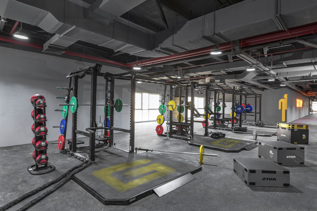 The facility has areas for all types of  gym-goer