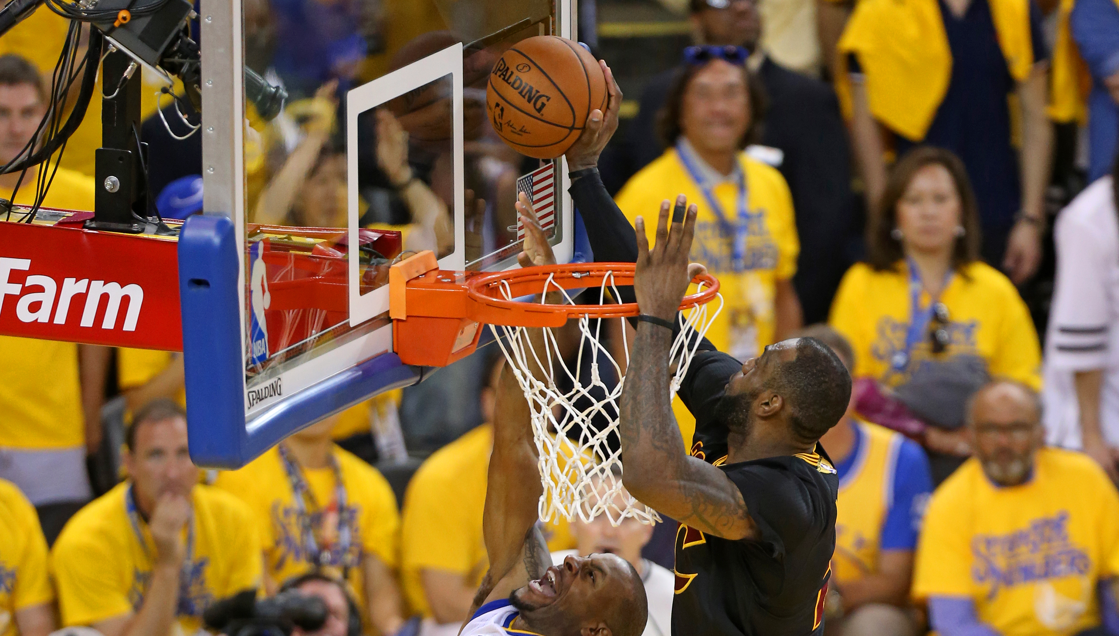 25298ca2a22 LeBron James  famous chase-down block in Game 7 of the 2016 NBA Finals.