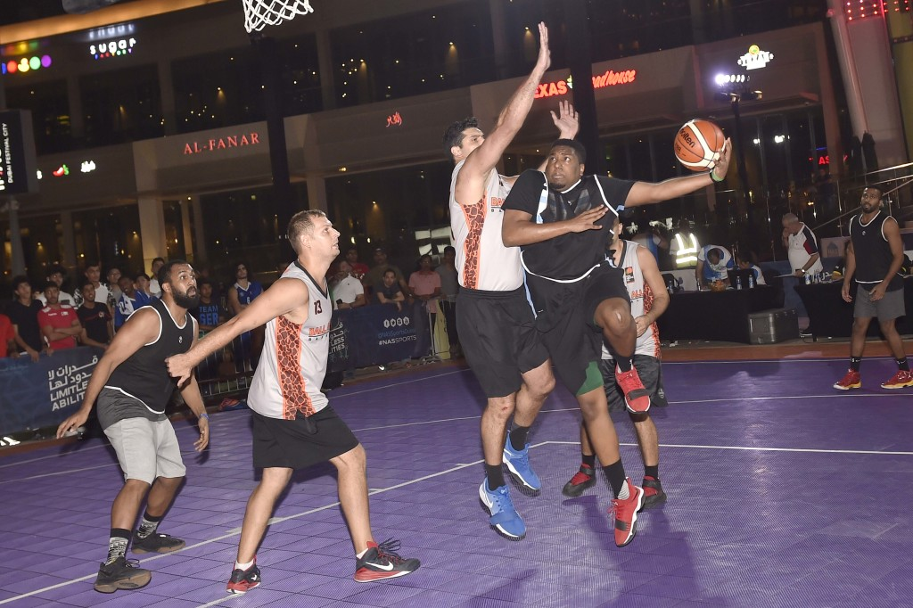Action from the 3x3 Basketball tournament