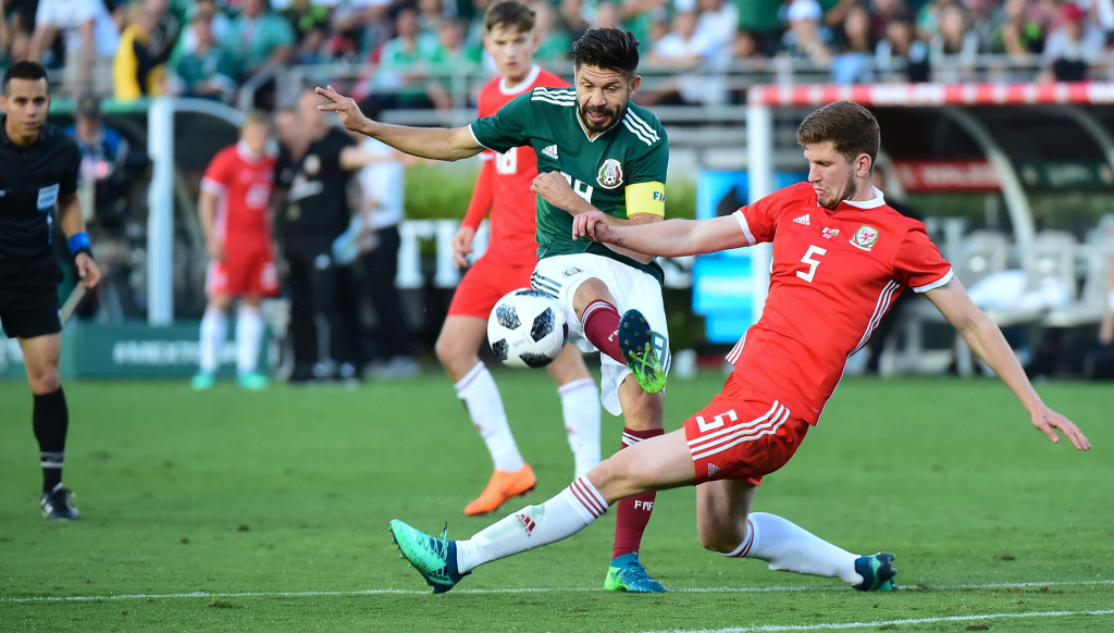 Chris Mepham, 20, had a fine game against Mexico.
