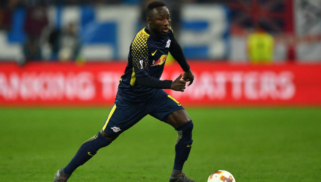 Naby Keita of RB Leipzig in action