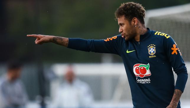 Back on the pitch: Neymar.