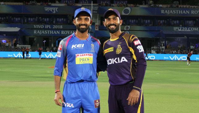 Big day for Ajinkya Rahane (l) and Dinesh Karthik. Image: BCCI.