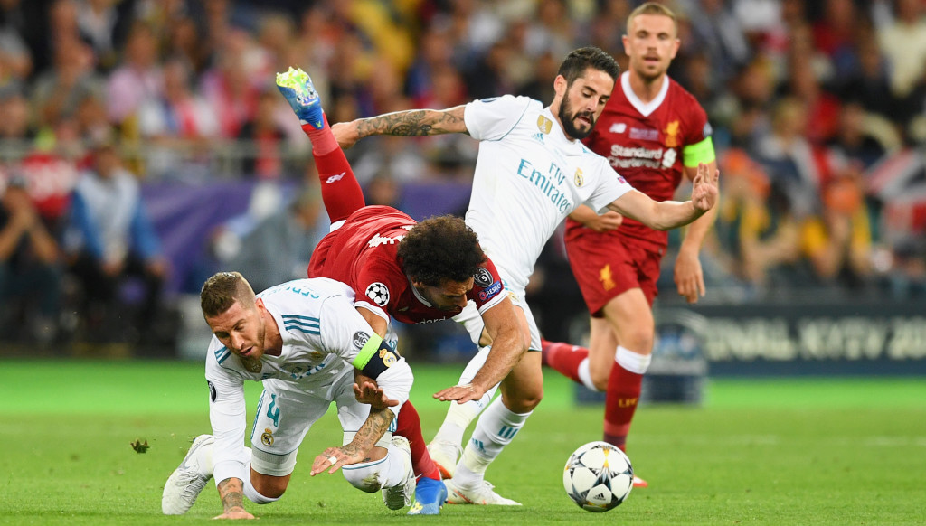 Sergio Ramos' tackle on Mohamed Salah in Kiev.