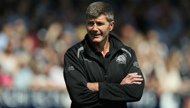 Fine margins: Exeter Chiefs' director of rugby Rob Baxter.