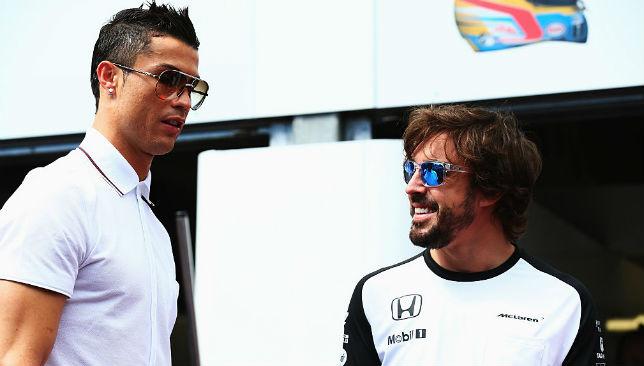 Ronaldo meets Fernando Alonso