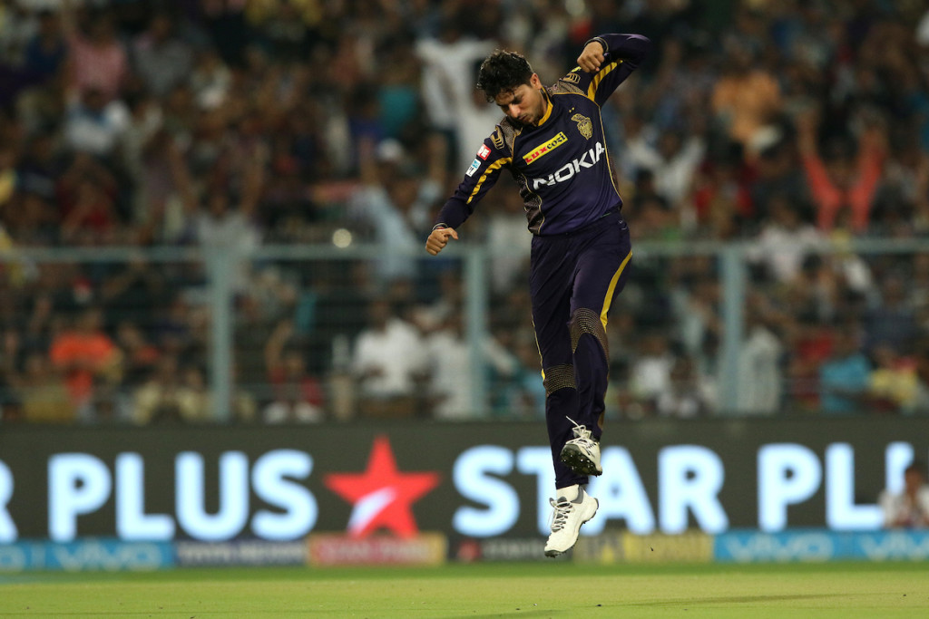 Kuldeep Yadav turned the game on its head with his spell. Image - BCCI.