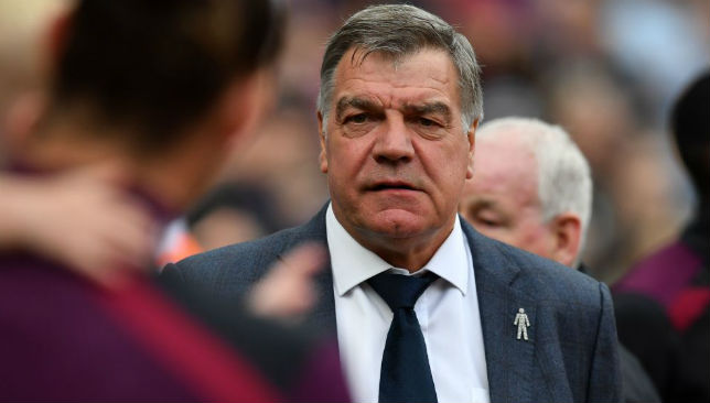 Sam Allardyce arrives