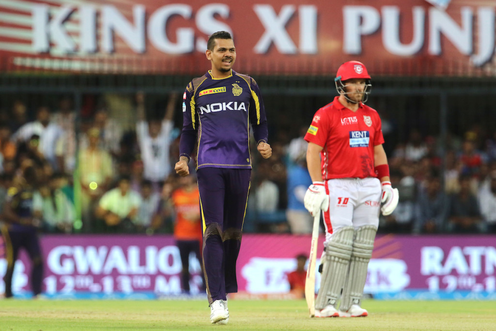 Narine claimed the big wicket of KL Rahul. Image - BCCI.