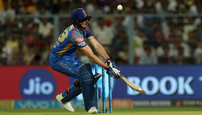 Buttler missed out on his sixth straight IPL fifty. Image: BCCI.