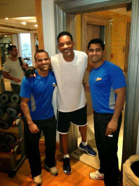 Joao (left) after putting Will Smith (centre) through his paces.