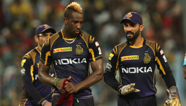Russell has not looked fully fit this IPL. Image: BCCI.