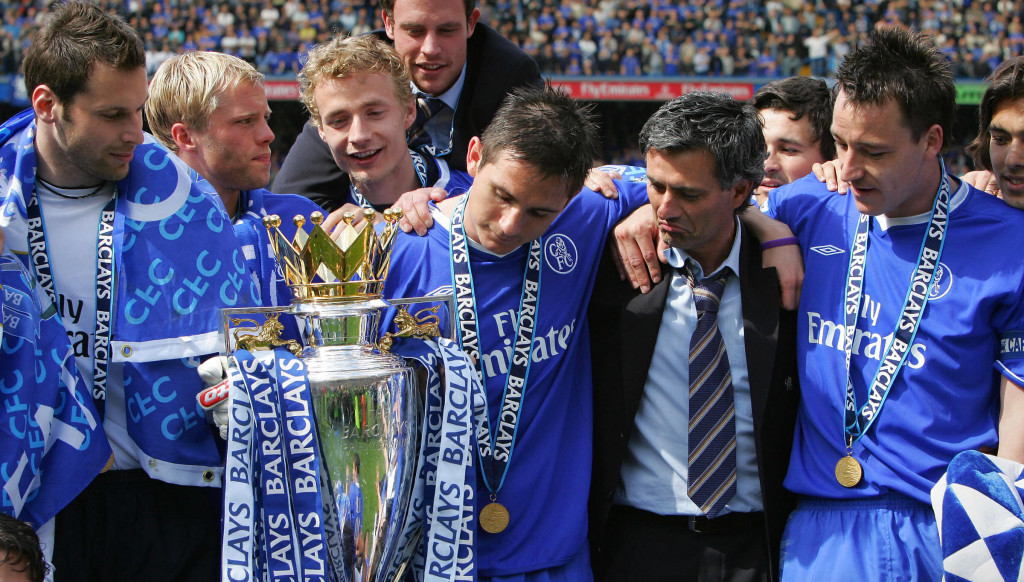 Champions: Mourinho won Chelsea's first league title in 50 years