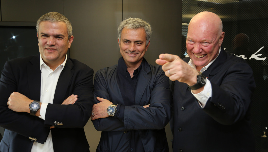 Hublot ambassador: The Manchester United manager proudly wears his timepiece