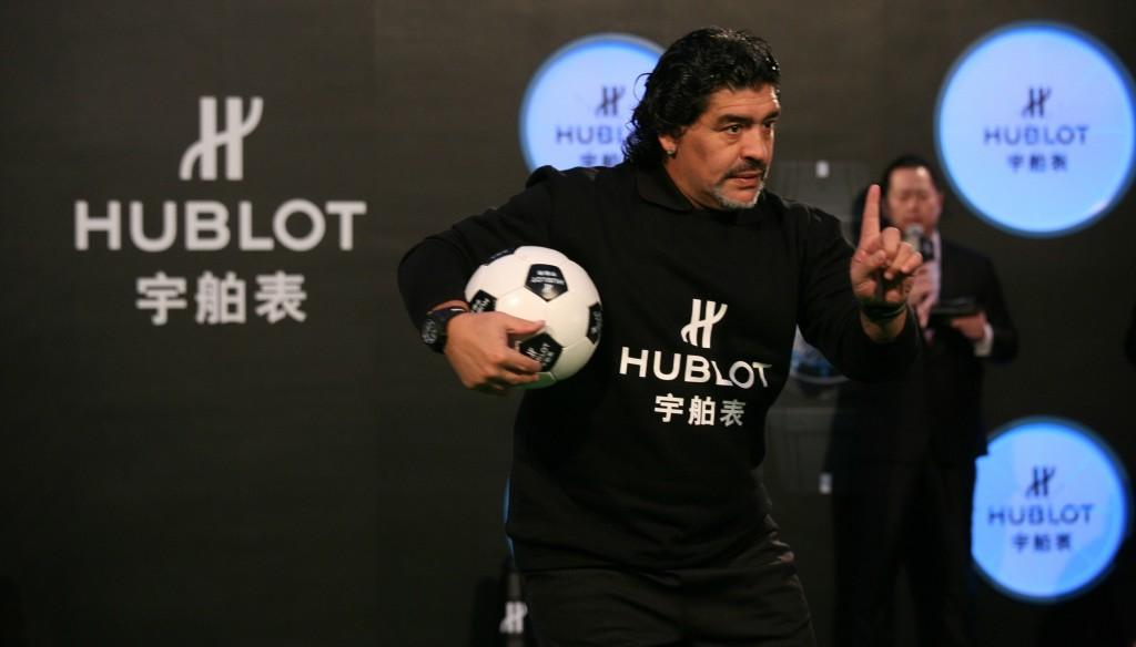 Hublot ambassador: Maradona