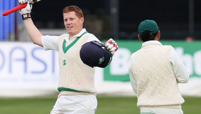 Kevin O'Brien scores Ireland's first Test hundred