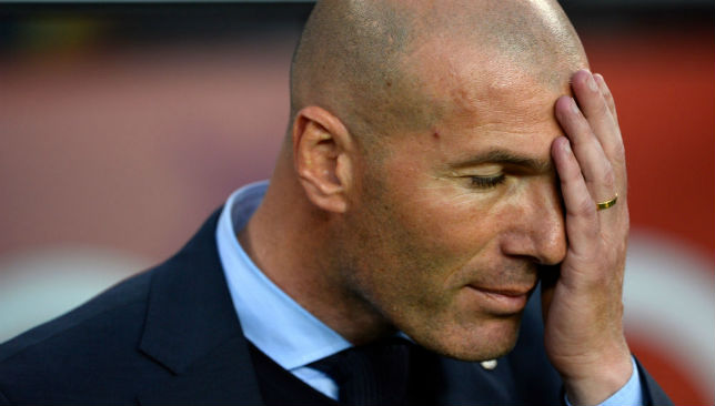 Zidane will have to devise an alternative strategy.