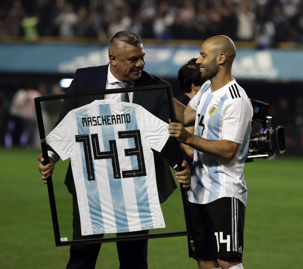 Mascherano recently became Argentina's most-capped player.