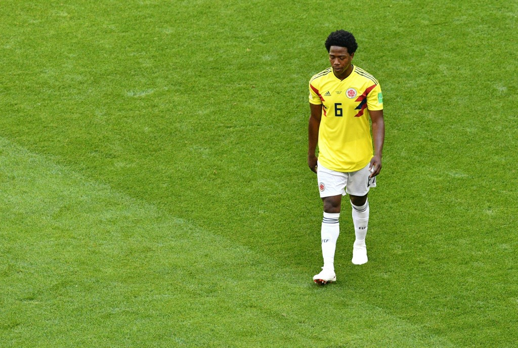 Carlos Sanchez has dealt Colombia's hopes a huge blow.
