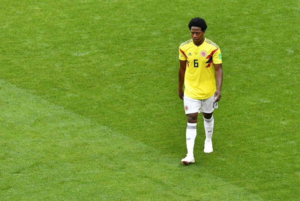 Carlos Sanchez has dealt Colombia's hopes a huge blow.