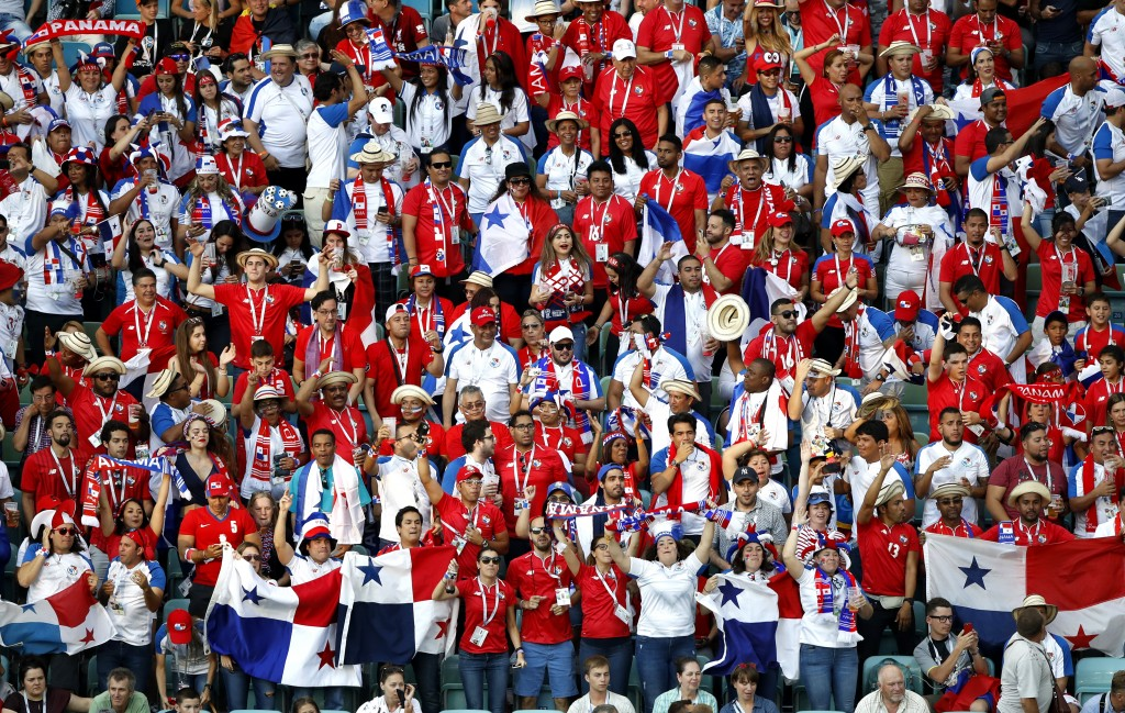 Panama are well-represented in the World Cup stadiums despite their small population.