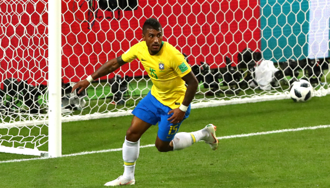 Paulinho scored his first World Cup goal.