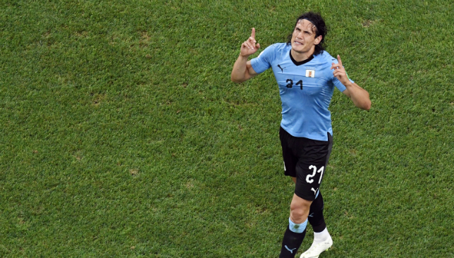 Edinson Cavani stole the show from Luis Suarez and Cristiano Ronaldo.