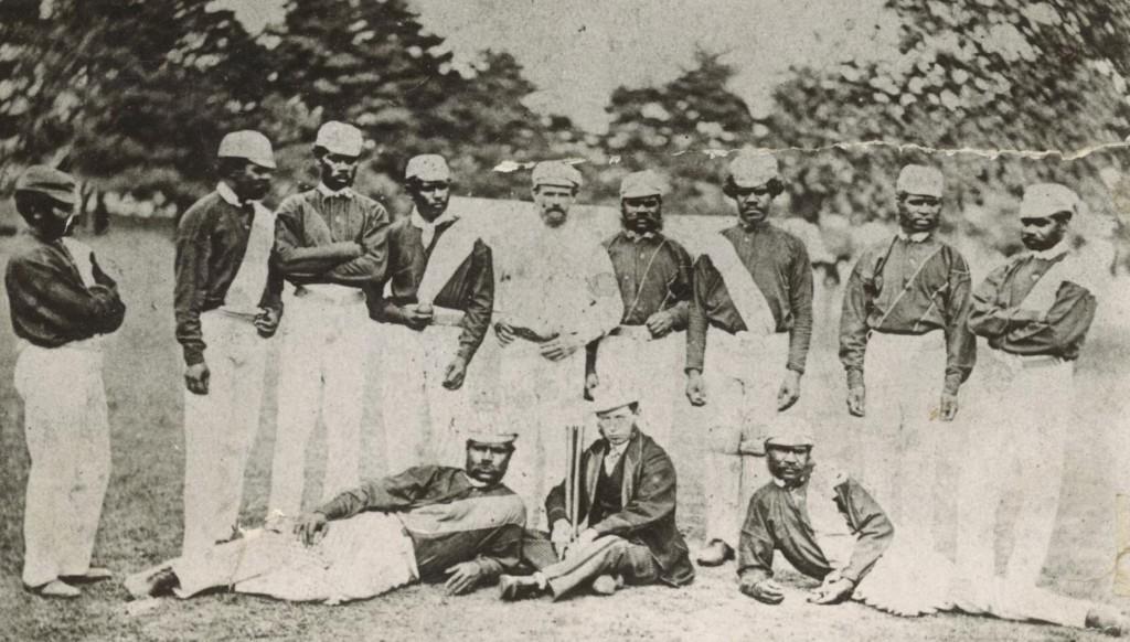 The original photo of the Australian Aboriginal cricket team in 1868