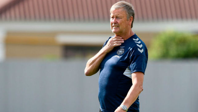 Age Hareide has been replaced by John Jensen for Denmark's next two games.