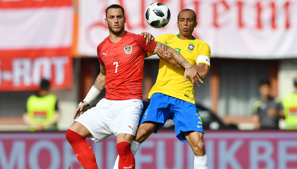 Marko Arnautovic and Austria provided a stern test for Brazil.