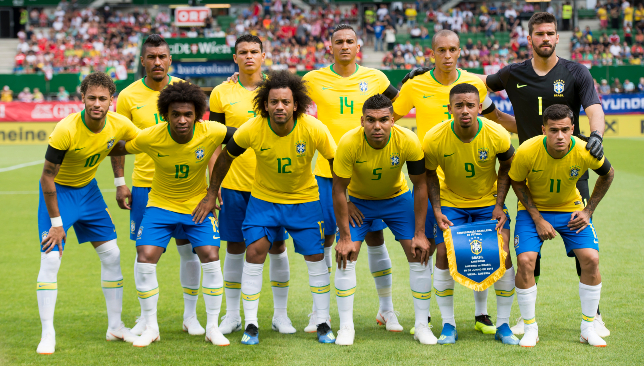 Brazil line-up before Austria win.