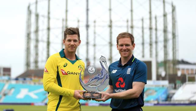 Tim Paine (l) and Eoin Morgan (r).